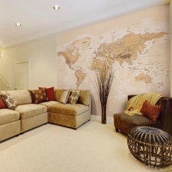 Wallpaper Living Room Wall Furniture Tv Tables Sepia World Map Photo Mural For Etsy Image 0