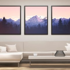 Modern Artwork For Living Room Raymour And Flanigan Rooms Art Etsy Landscape Print Set Mountain Panel Wall Painting Large Gift