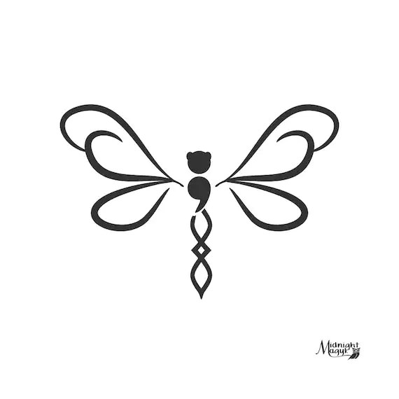 Download Semicolon Dragonfly in Flight SVG PNG Cricut and ...
