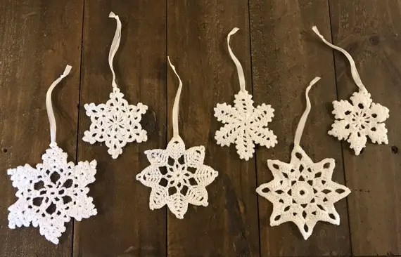 Set of 6 Christmas Crochet Ornaments
