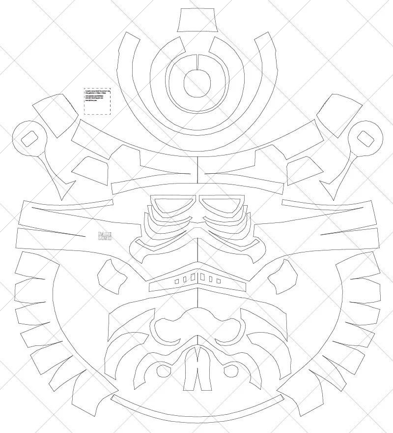Classic Storm trooper Helmet A4 & Letter Size PDF Template