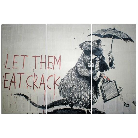 Let Them Eat Crack Banksy Graffiti Mural Painting Stenciling | Etsy