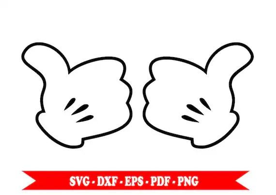 Download Mickey Mouse Disney hands hands svg svg clip art digital ...
