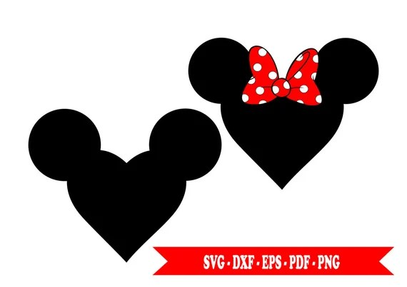 Download Minnie mouse svg and Mickey mouse svg heart in SVG digital ...