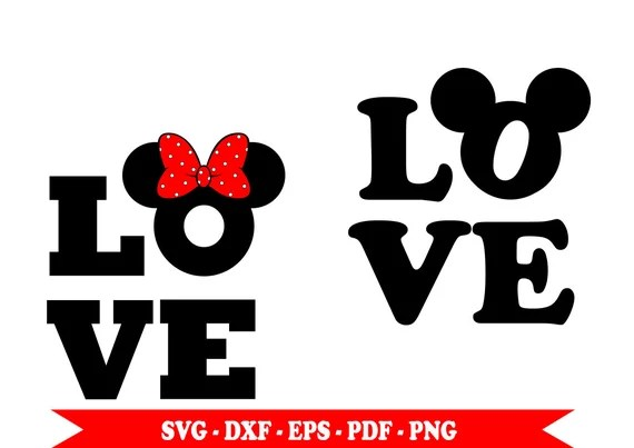 Download Mickey Mouse svg Minnie mouse svg love clip art in SVG | Etsy