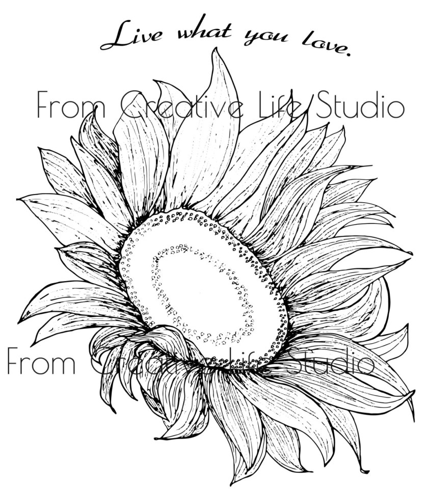 sunflower adult coloring page  etsy