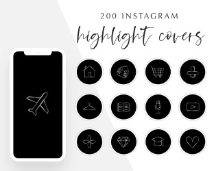 Food Instagram Highlight Cover Black