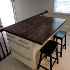 Kitchen Island With Bar Cost To Refinish Cabinets Etsy Rustic Reclaimed Wood Desk Home Coffee End Night Table Top Restaurant Farmhouse Urban Shabby Chic