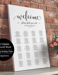 also editable wedding table seating chart poster sign rh etsy