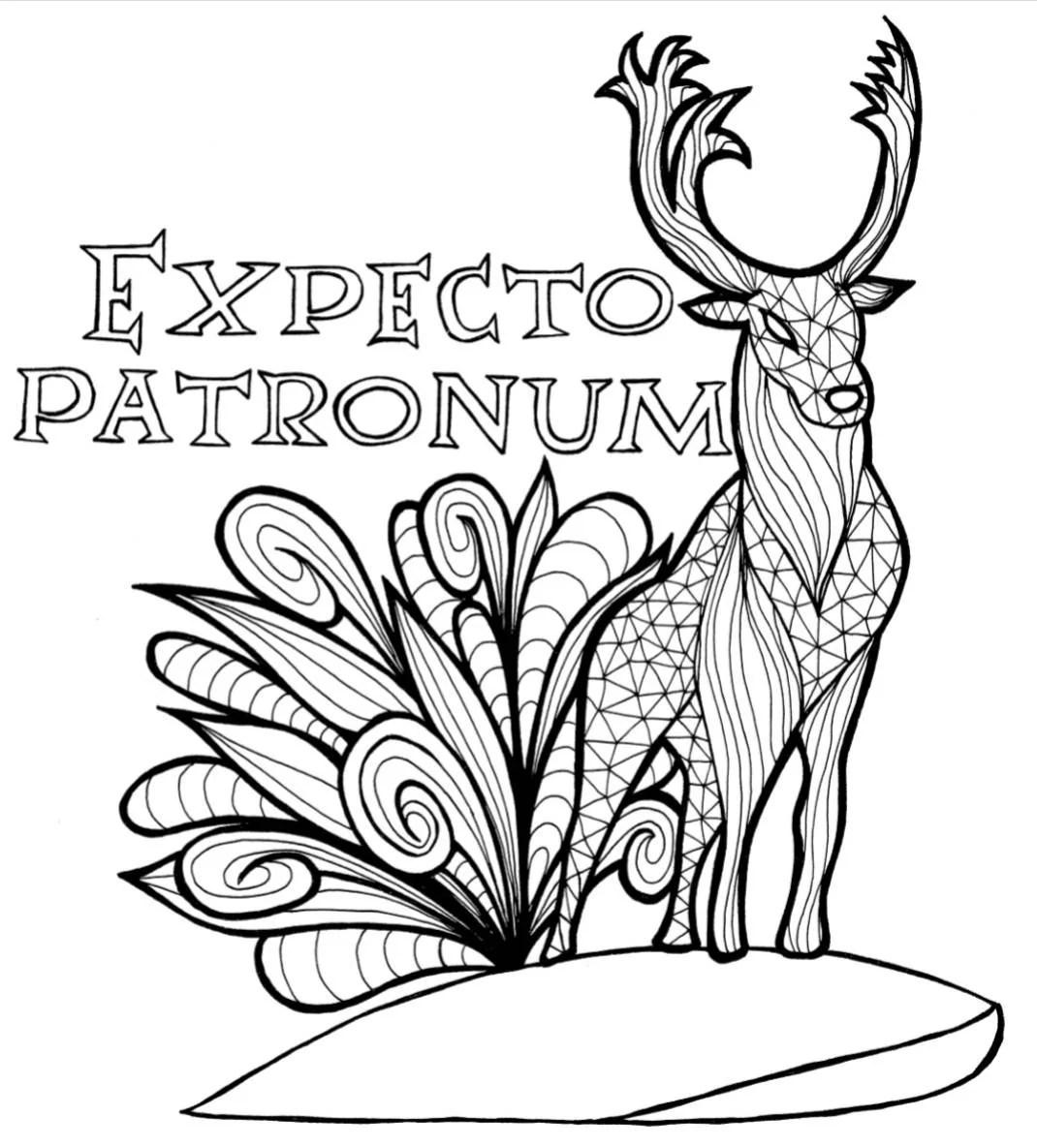 Harry Potter Patronum Coloring Page
