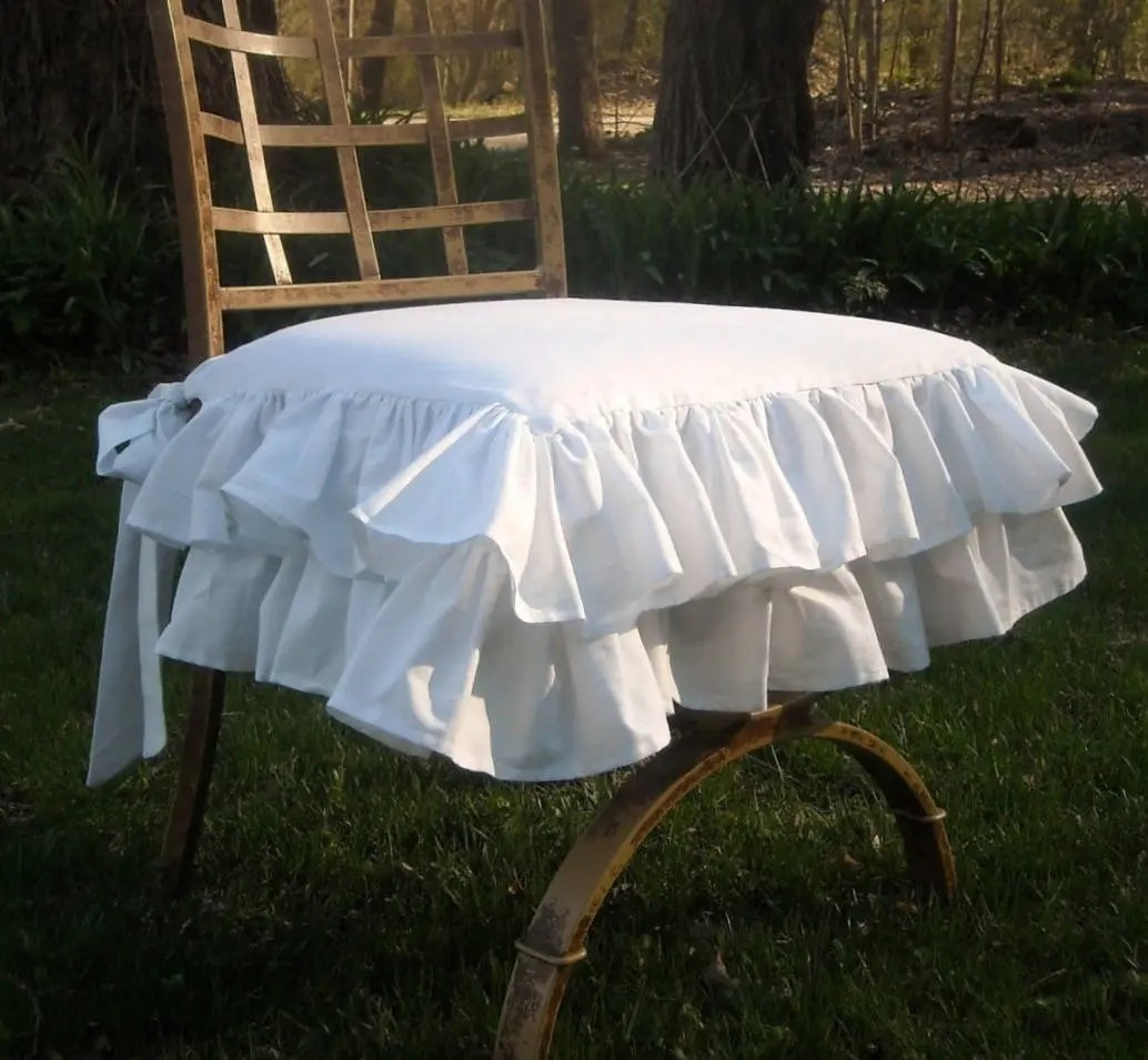 chair covers for rent in trinidad oversized pillow dining slipcover etsy white ruffled