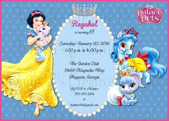 palace pets birthday invitation palace pets snow white birthday invitation disney snow white birthday invitation