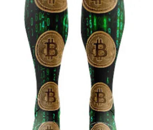 Bitcoin Socks This Creative Design Incorporates Bitcoins And The Matrix
