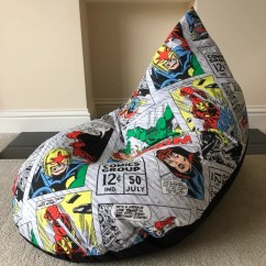 Avengers Bean Bag Chair Covers For Chairs Without Arms Large Adult Gaming Beanbag Super Hero Retro Etsy Image 0