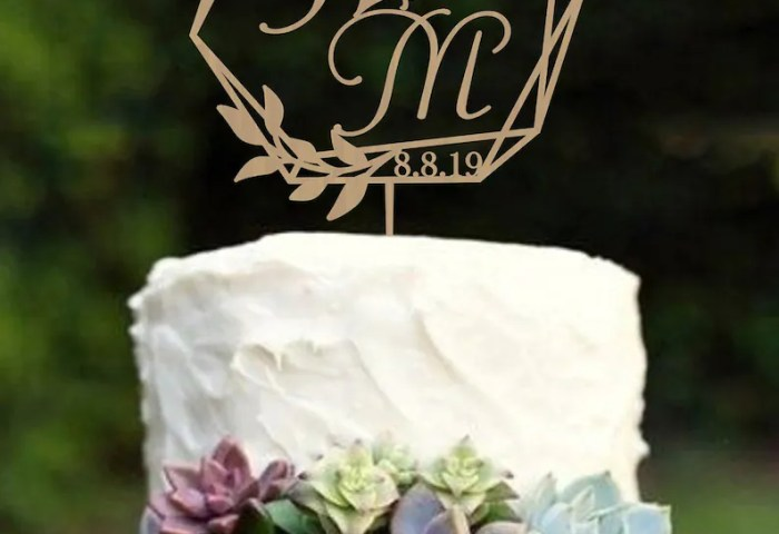 Geometric Wedding Cake Topper Modern Wedding Cake Topper Etsy