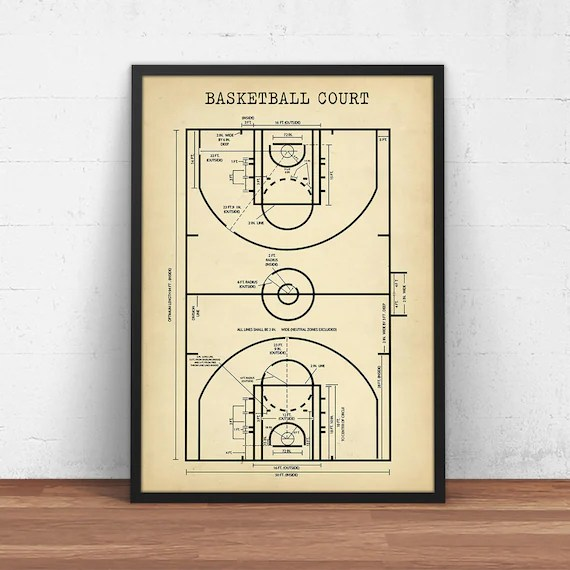 basketball court diagram for coaches ktm duke 125 wiring coach gift digital download etsy image 0