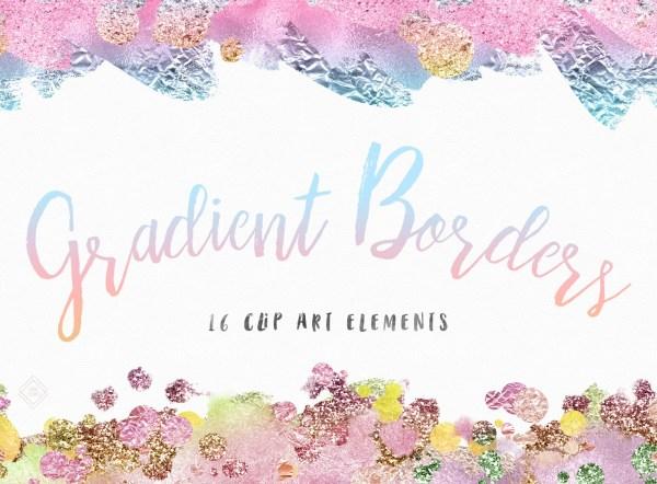 rainbow confetti border clip art