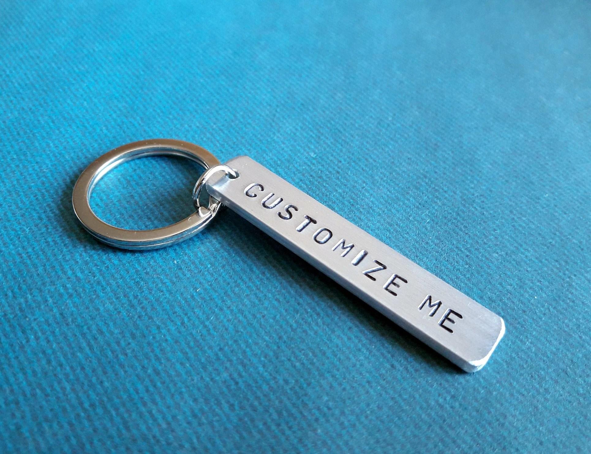 personalized keychain custom text