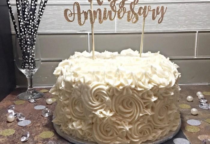 Happy Anniversary Cake Topper Anniversary Cake Topper Etsy