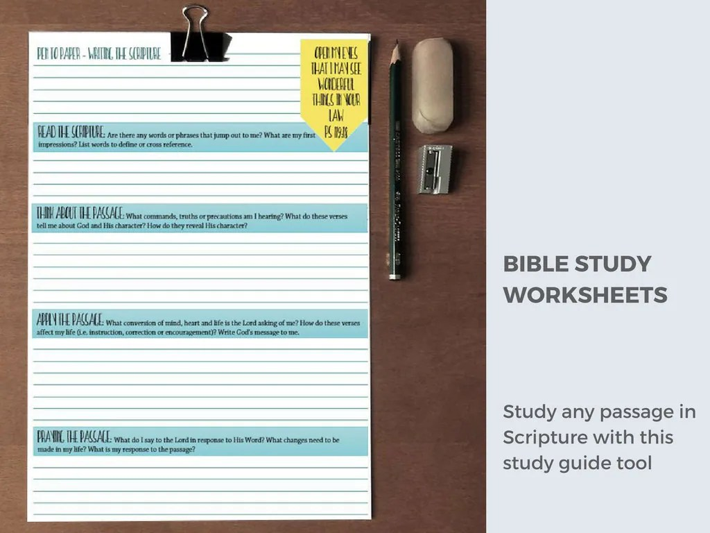 Bible Study Printable Bible Worksheets Inductive Bible
