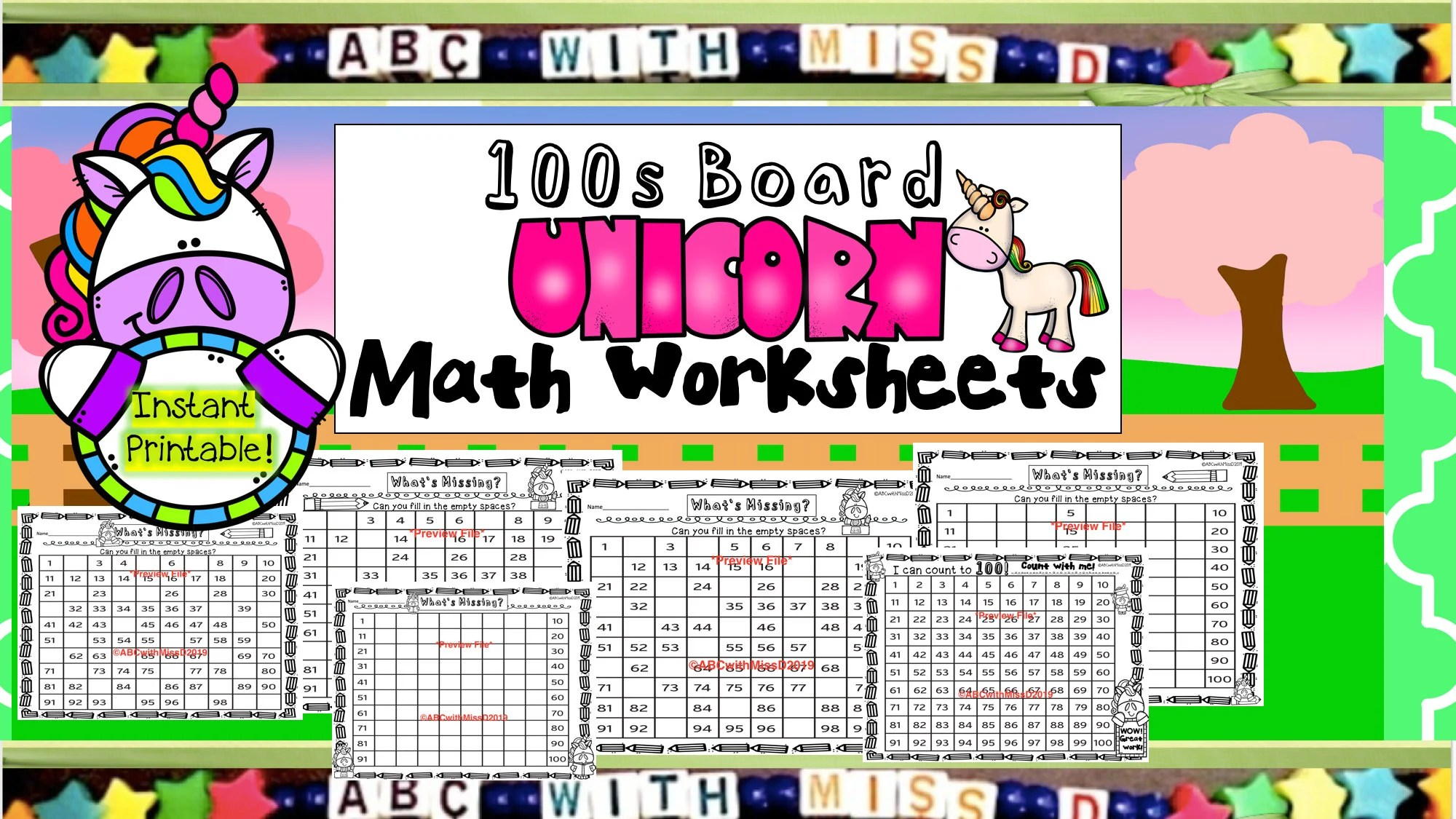100s Board Math Worksheets Home Learning Printable