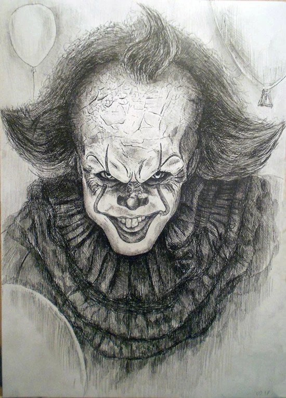 How To Draw A Killer Clown : killer, clown, Killer, Clowns, Pennywise, Clown, Stephen