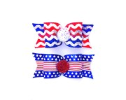dog hair bows- patriotic usa american