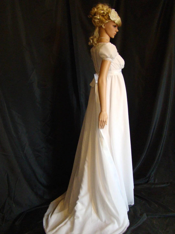 Regency Era Wedding Dress : regency, wedding, dress, Historic, Wedding, Dress, Empire, Regency, Period