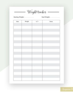 Image also weight loss chart tracker planner refills etsy rh