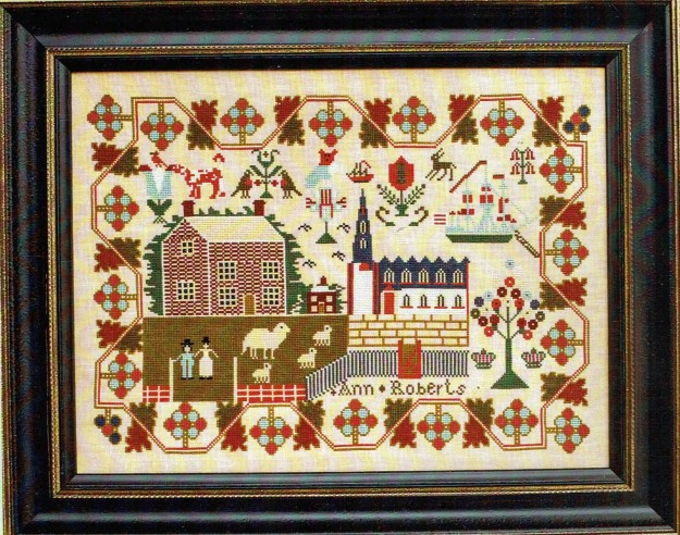 Ann Roberts c 1842 by Hands Across The Sea Samplers Counted   Etsy