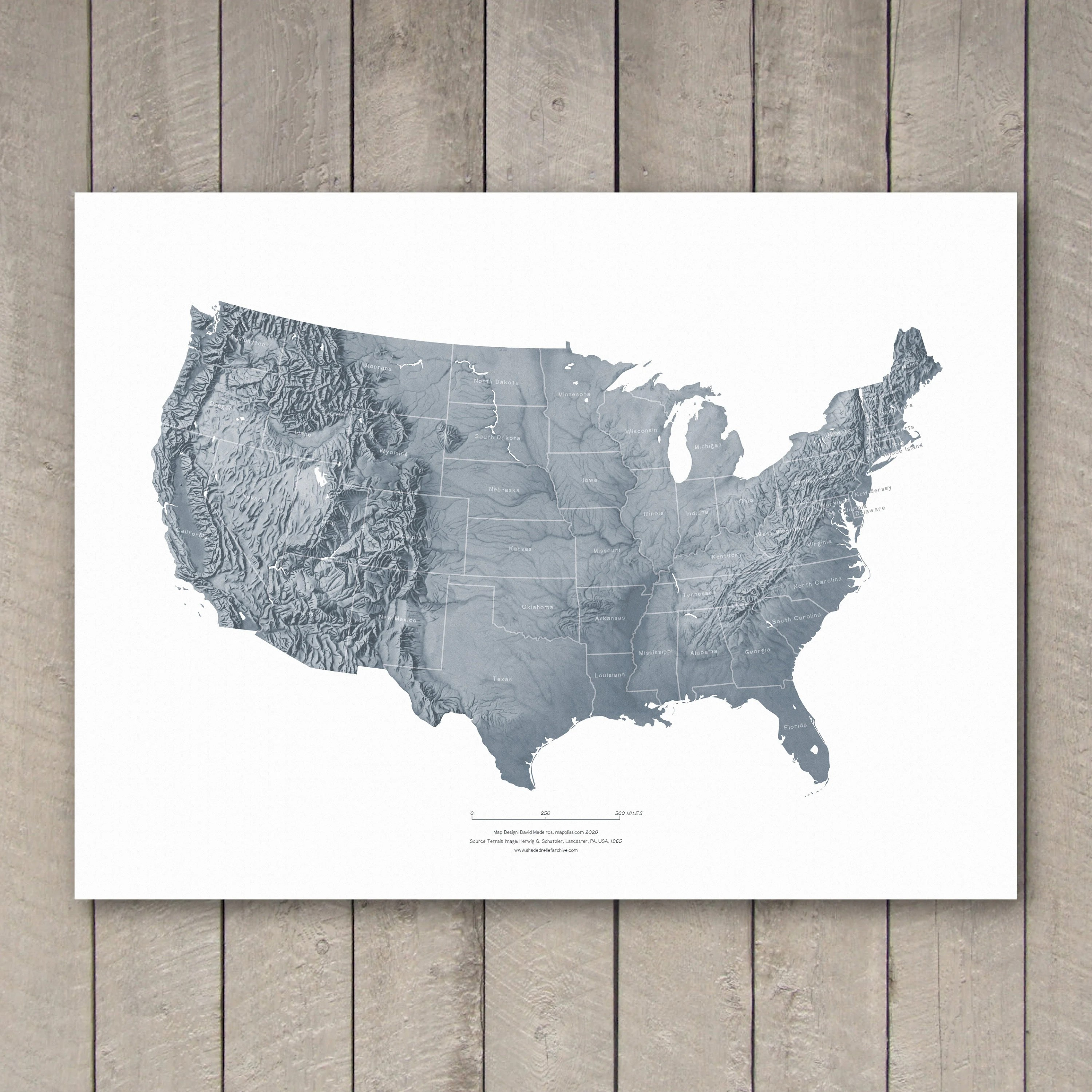 Learn how to read the scale on a topographic map. United States Topographic Map Hand Drawn Shaded Relief Etsy