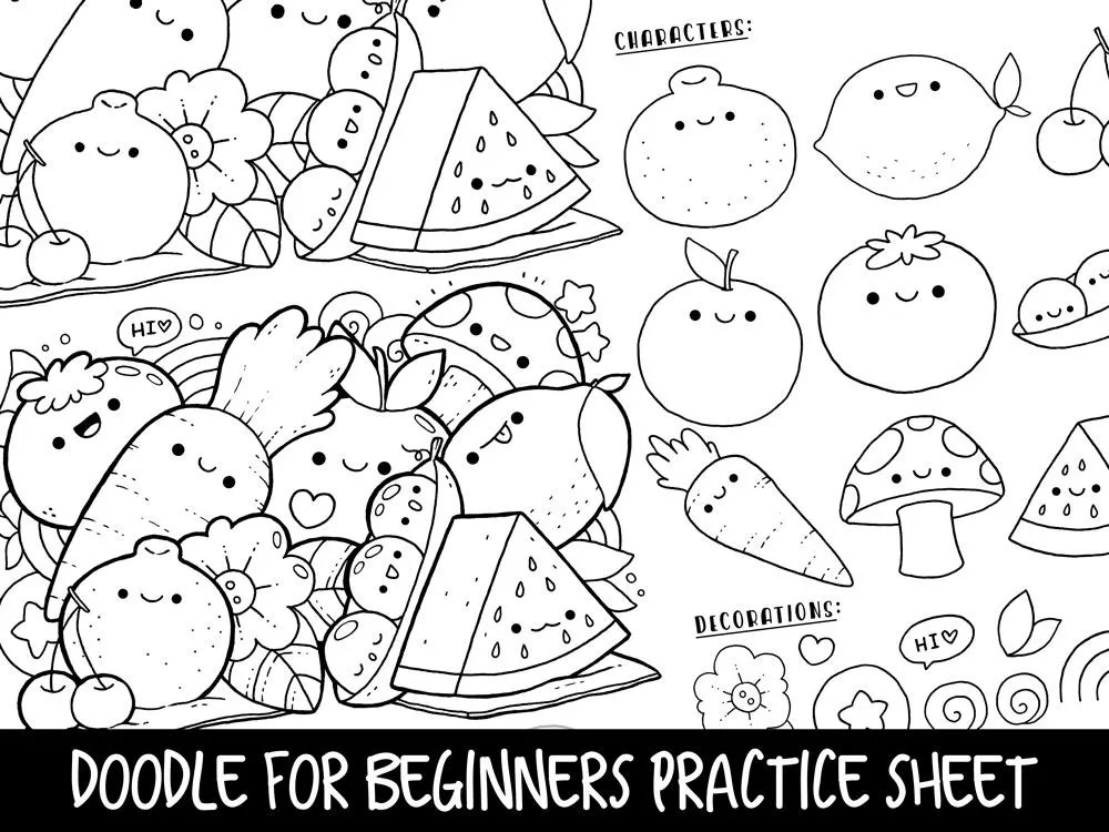Doodle for Beginners Ep2 Reference/Practice Printable