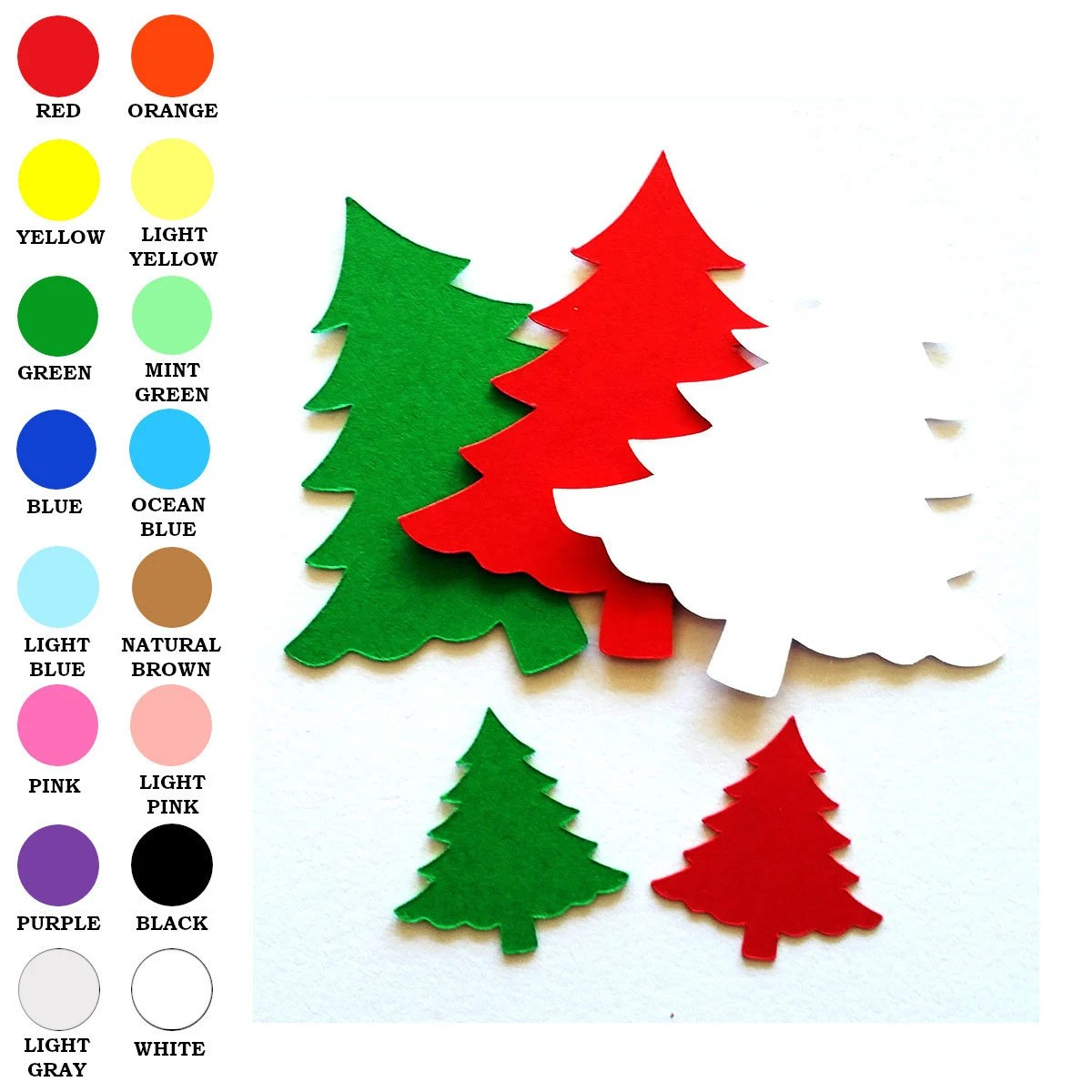 25 Pack Paper Christmas Tree Tree Shapes Paper Tree Cut