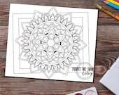 Printable Mandala Adult C...