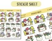 Envelope Buddies A-001 Sticker sheet (1 Pc) - Planner stickers - matte stickers - Kawaii stickers - Journal stickers