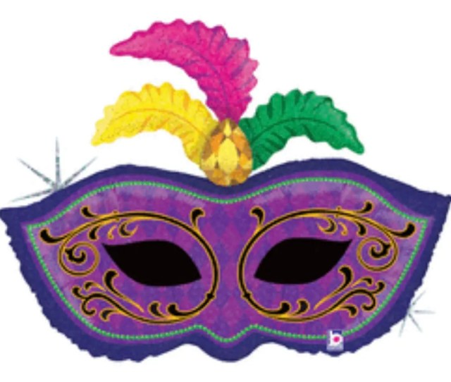 Mardi Gras Balloons Mask Decorations Purple Green Gold Masquerade Party