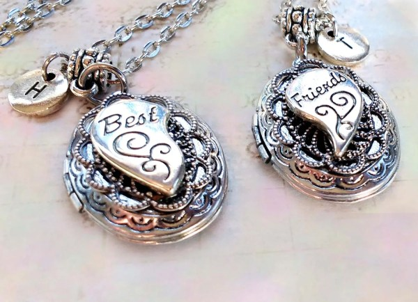 Friends Lockets Set Of 2 Bff Personalized With