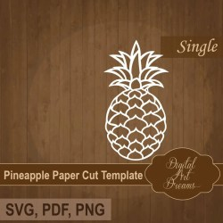 Printable Cut Out Pineapple Template