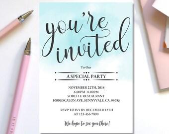 invites templates etsy