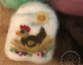 Handcrafted Felted Artisan Soap - Crazy Chicken Lady