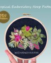 Tropical Embroidery Floral Hoop Art Plant Lady Gift Denim Etsy