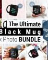 Black Mug Mockup Bundle Black Coffee Cup Stock Photo Bundle Etsy