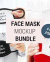Face Mask Mockup With Man Man With Face Mask Mockup Face Etsy