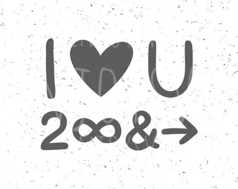 Download I Love You To Infinity And Beyond svg I Love You Infinity ...