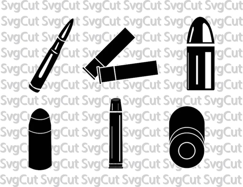 Bullets SVG Bullet vector Ammo Ammunition Clipart Shotgun