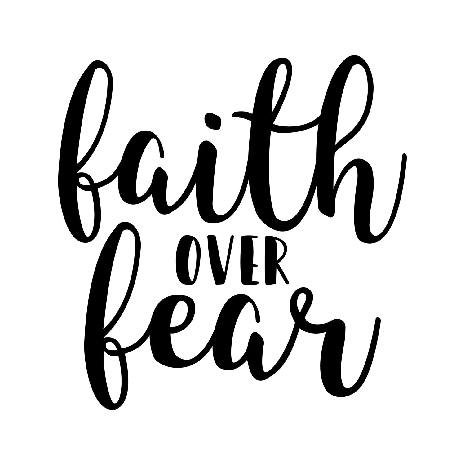 Faith Over Fear Instant Download Clipart Graphic Files