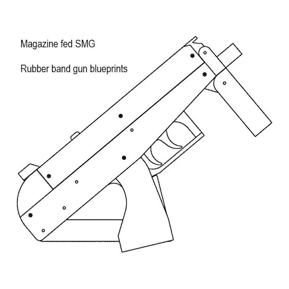 Magazine fed rubber band gun plans