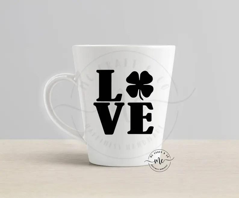 Download Love Shamrock Svg St. Patricks Day Svg Shamrock Svg Love ...