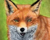 Sly Mister Fox - original mixed media painting