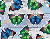 Colourful Oakleaf Butterfly Large Glossy Vinyl Sticker